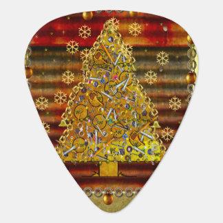 Christmas Metal Tree Guitar Pick