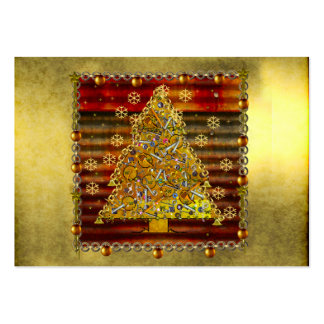 Christmas Metal Tree Large Business Card