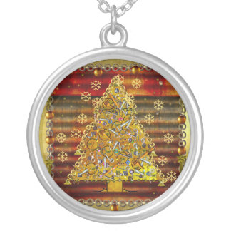 Christmas Metal Tree Custom Necklace