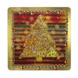 Christmas Metal Tree Puzzle Coaster