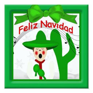 Christmas Mexican Caroler Man Greeting Announcement
