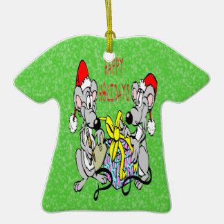 Christmas Mice Christmas Ornament T-Shirt