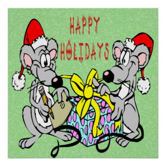 Christmas Mice Print
