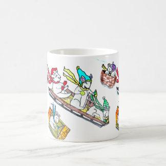 CHRISTMAS MICE SLEDDING cup Coffee Mug