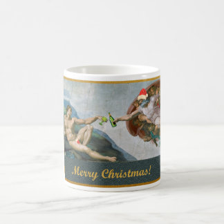 Christmas Michelangelo - Creation Coffee Mug