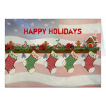 Christmas Military Mantle Card