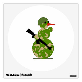 Christmas Military Snowman Room Graphic