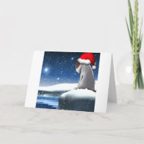 Christmas Milo (The Bull Terrier Puppy) Holiday Card
