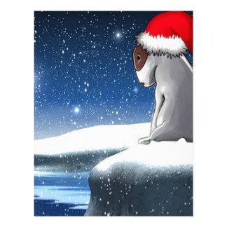 Christmas Milo (The Bull Terrier Puppy) Letterhead