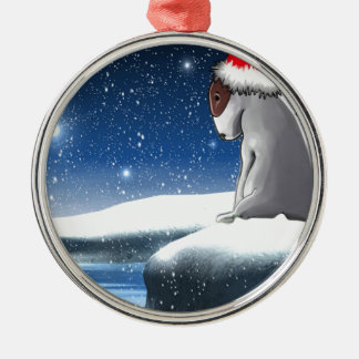 Christmas Milo (The Bull Terrier Puppy) Metal Ornament