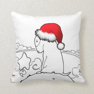 Christmas Milo (The Bull Terrier Puppy) Throw Pillow