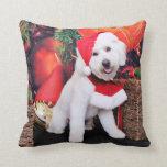 Christmas - Mini Doodle - Winston Throw Pillows