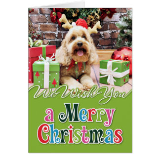 Christmas - Mini GoldenDoodle - Maggie Card