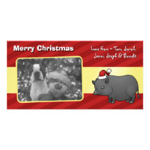Christmas Miniature Pig Card