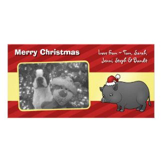 Christmas Miniature Pig Card