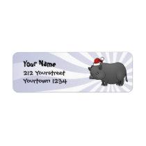 Christmas Miniature Pig Label