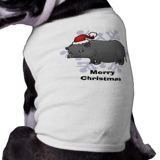 Christmas Miniature Pig Pet T-shirt