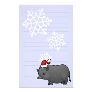 Christmas Miniature Pig Stationery