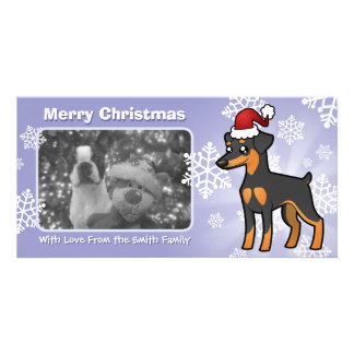 Christmas Miniature Pinscher / Manchester Terrier Card