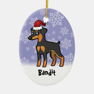 Christmas Miniature Pinscher / Manchester Terrier Ceramic Ornament