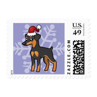Christmas Miniature Pinscher / Manchester Terrier Stamps