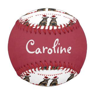 Christmas Miniature Pinschers Baseball