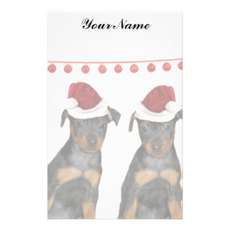 Christmas Miniature Pinschers Stationery