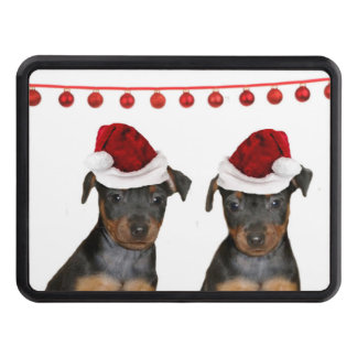 Christmas Miniature Pinschers Tow Hitch Covers