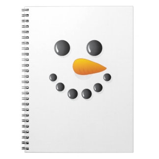 Christmas Minimal Snowman Spiral Notebook