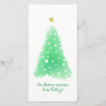 Christmas Minimalistic Gold Green Cards