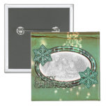Christmas Mint  - Add YOUR OWN PHOTO Pinback Buttons