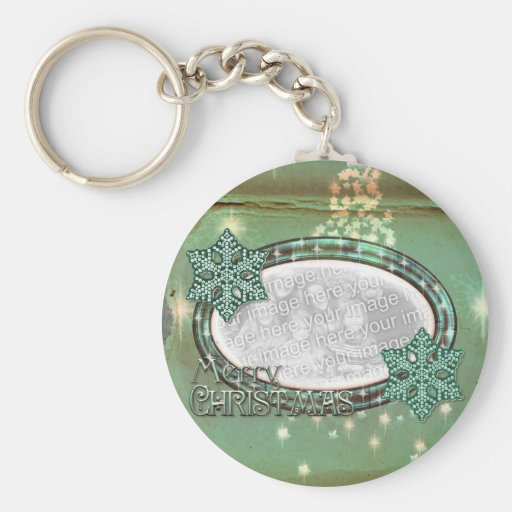 Christmas Mint  - Add YOUR OWN PHOTO Key Chains