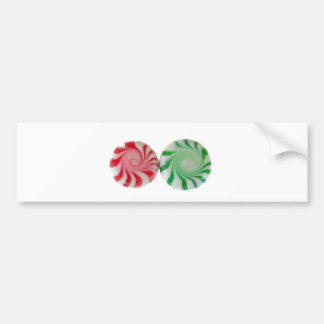 Christmas mints red and green bumper sticker
