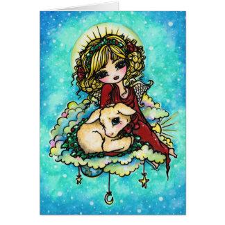 Christmas Miracle Angel Art by Hannah Lynn Card