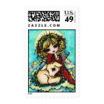 Christmas Miracle Angel Art by Hannah Lynn Postage Stamps
