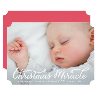 Christmas Miracle Birth Announcement