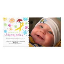Christmas Miracle - Childhood Cancer Ribbon Card