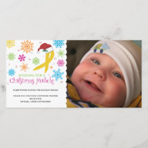 Christmas Miracle - Childhood Cancer Ribbon Holiday Card