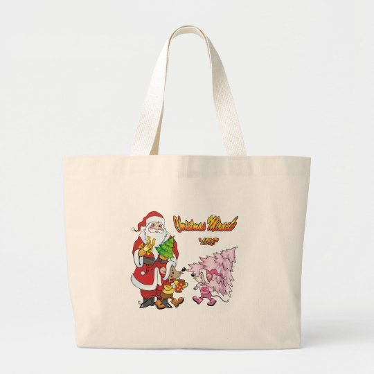 Christmas Miracle Love Large Tote Bag
