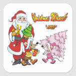 Christmas Miracle Love Square Sticker