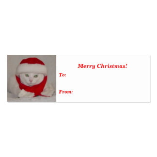 Christmas Missy Gift Tag Mini Business Card