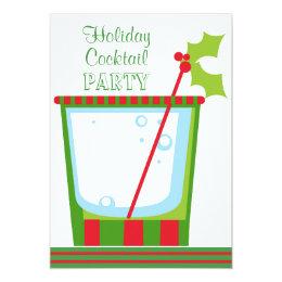 Christmas Mistletoe Cocktail Party Card