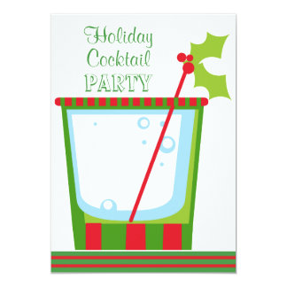 Christmas Mistletoe Cocktail Party Card