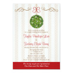 CHRISTMAS MISTLETOE COUPLES WEDDING SHOWER 5X7 PAPER INVITATION CARD