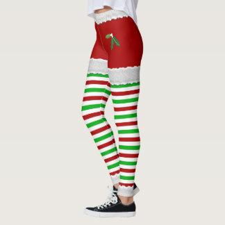 Christmas Mistletoe Leggings