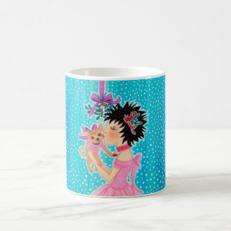 Christmas Mistletoe Love Dog Coffee Mug