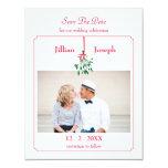 "Christmas Mistletoe Photo Save The Date Card 4.25"" X 5.5"" Invitation Card"