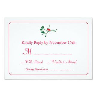 Christmas Mistletoe RSVP Card Invitation