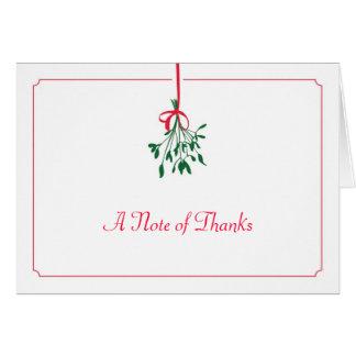 Christmas Mistletoe Thank You Card