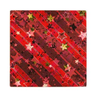 Christmas Maple Wood Coaster